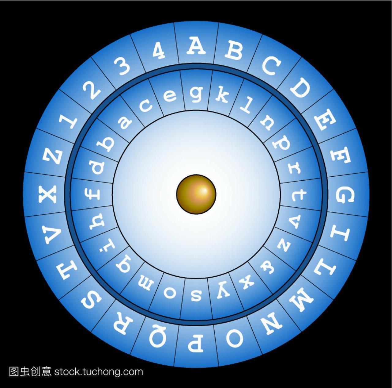 阿尔贝蒂密码盘艺术品。这个设备被描述在14篇61背必古诗文初中生图片