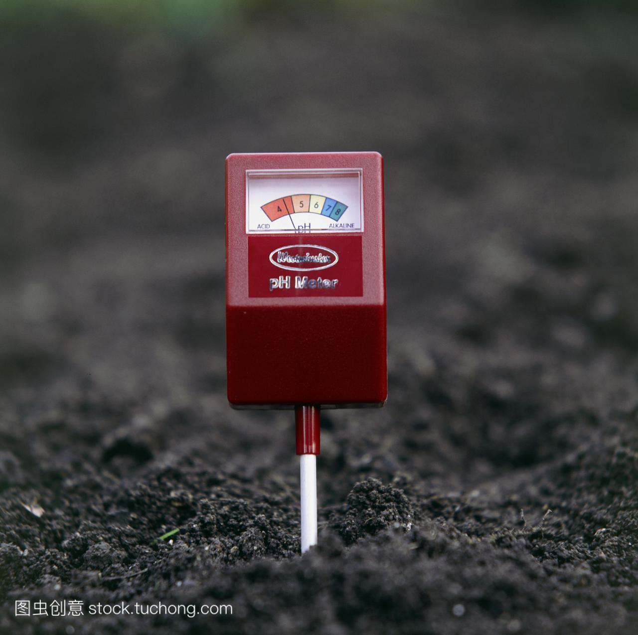 土壤导航ph计测试土壤技巧酸度和园丁修复米测试黑屏使用小农民图片