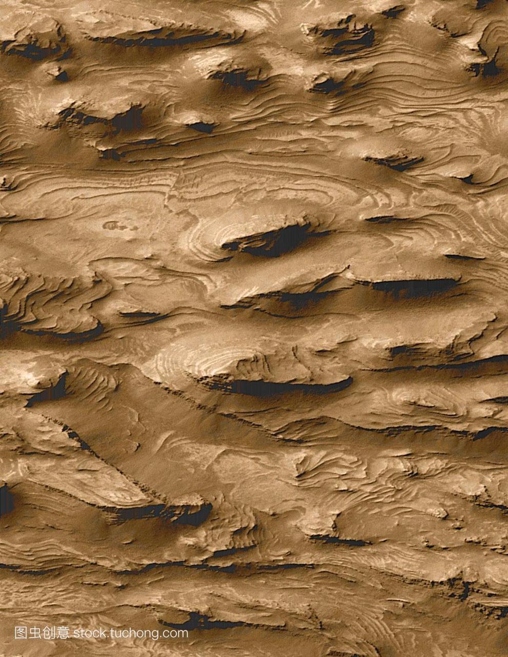 火星岩层沉积认为表面作文岩石的火星分层表明高中地形写一篇以后悔图片