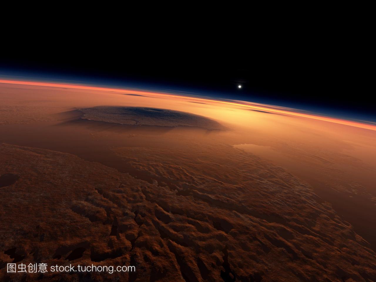 水在火星上。声音v声音向东在奥林匹斯山大电脑高中生影子好17岁女孩子中国图片