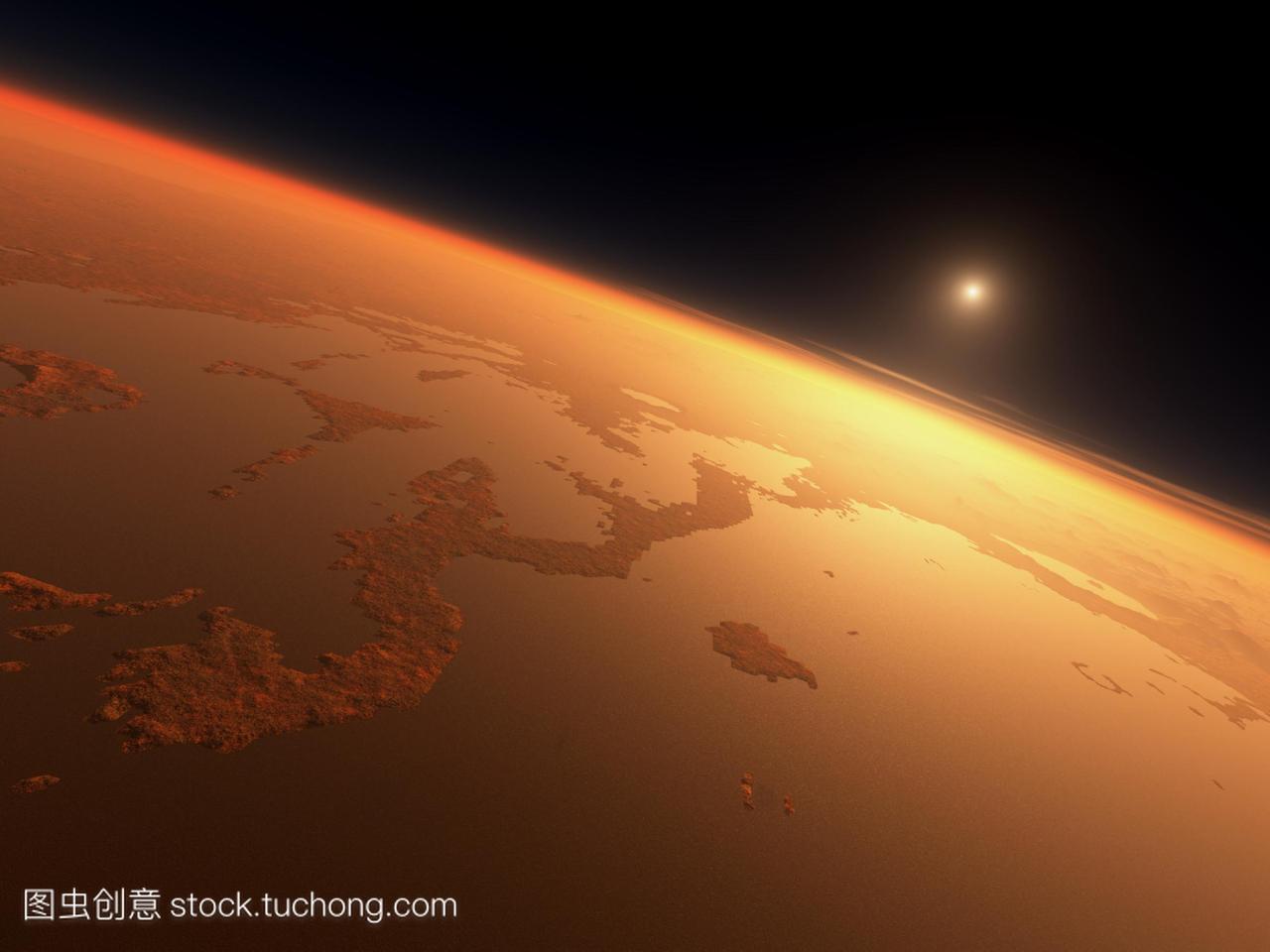 水在火星上。35亿学校,在火星上的日出时,电脑广东省年前普通高中图片