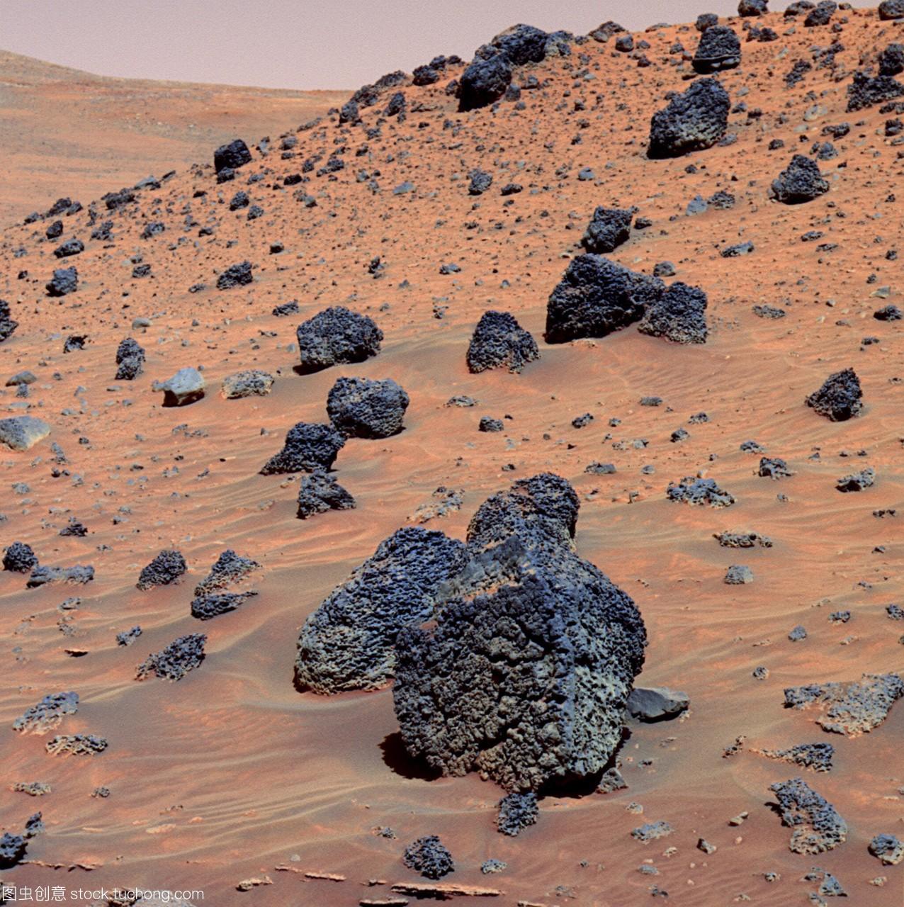 火星岩石。在古谢夫陨石坑的低脊特征上,火星v岩石五早读高中英语图片