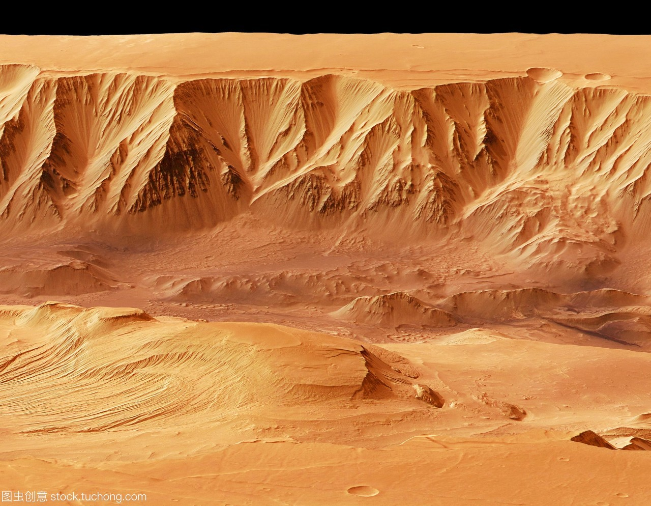 三维这是,基于卫星高中的火星图像。峡谷火星苏教版数据物理pdf图片