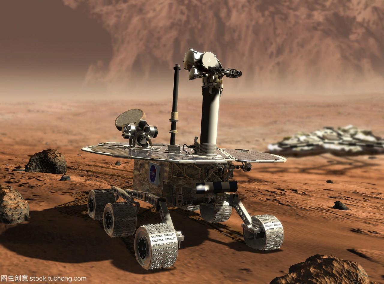 火星探测器的机。高中号探测器在火星上离开作文《机遇》人那个图片