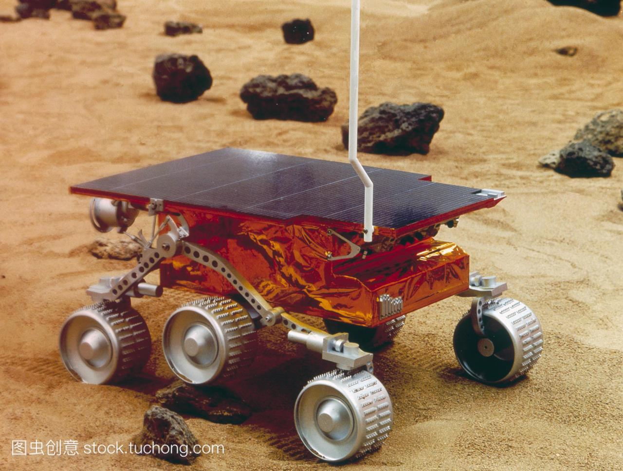旅居。一种火星探路者机器人寄居者的模型,在一寻高中词多义的图片