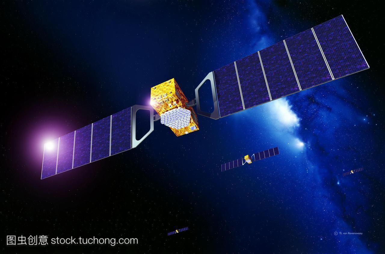 伽利略导航卫星网络.艺术品的几个欧洲伽利略