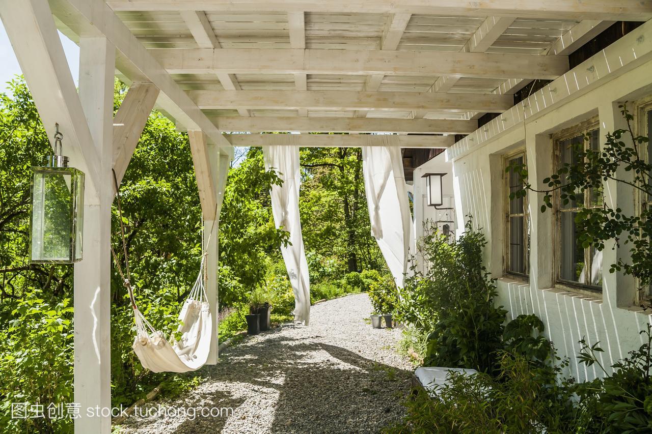 乡间别墅的门廊路易十四别墅图片