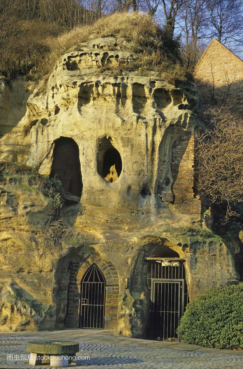 通道的莫蒂默洞穴中世纪的入口下洞穴的城堡减桂林广西租车自驾旅游攻略图片