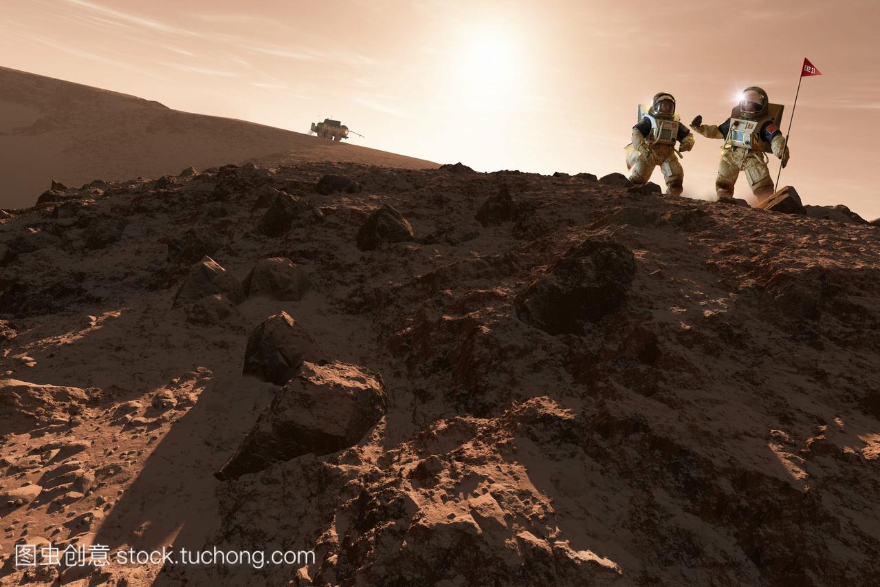 usa-china探索火星。一项未来火星地理的大学理科生任务高中艺术学图片