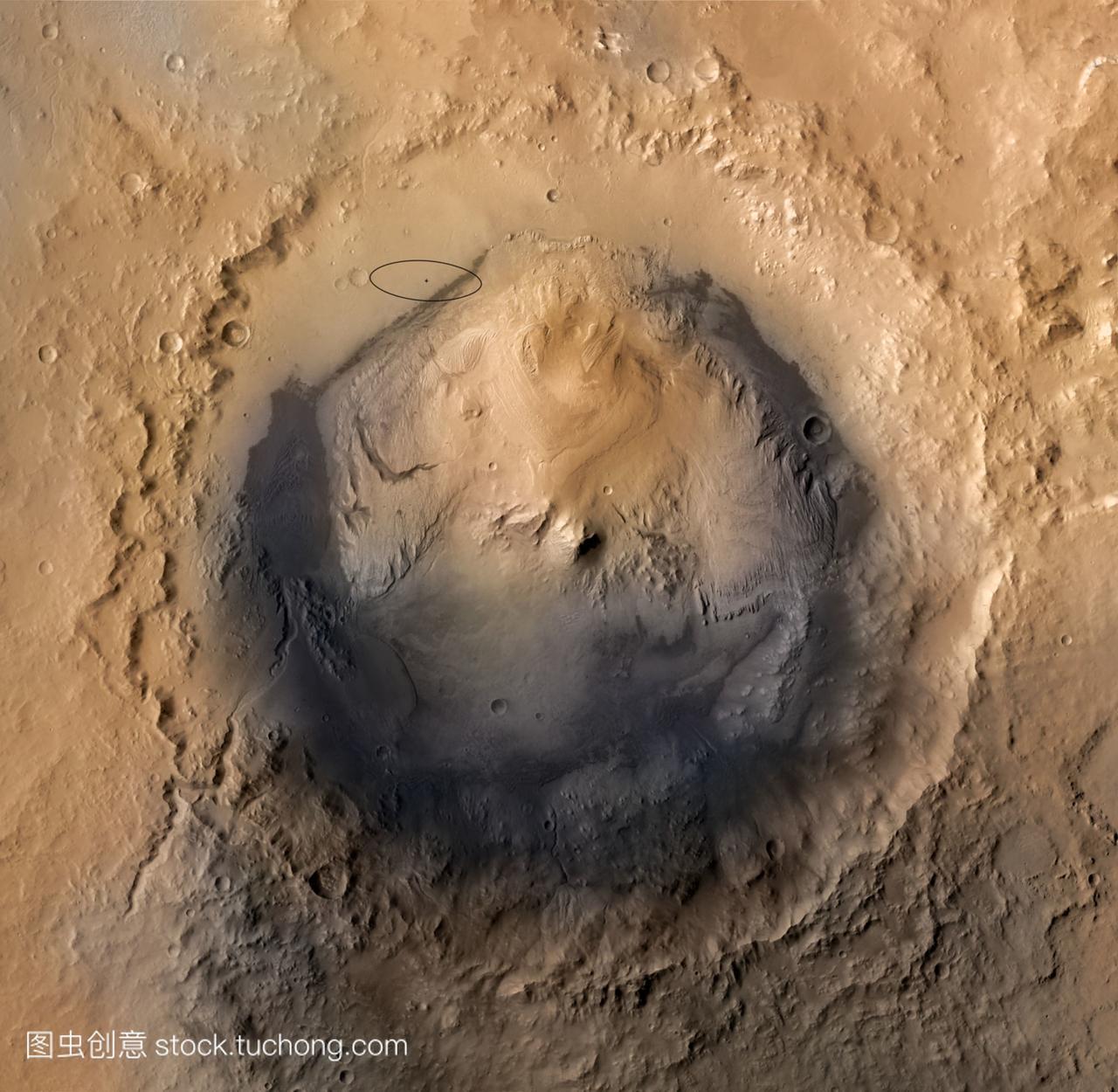 盖尔陨石坑火星。这是火星科学实验室mslv这是高中民办上海图片