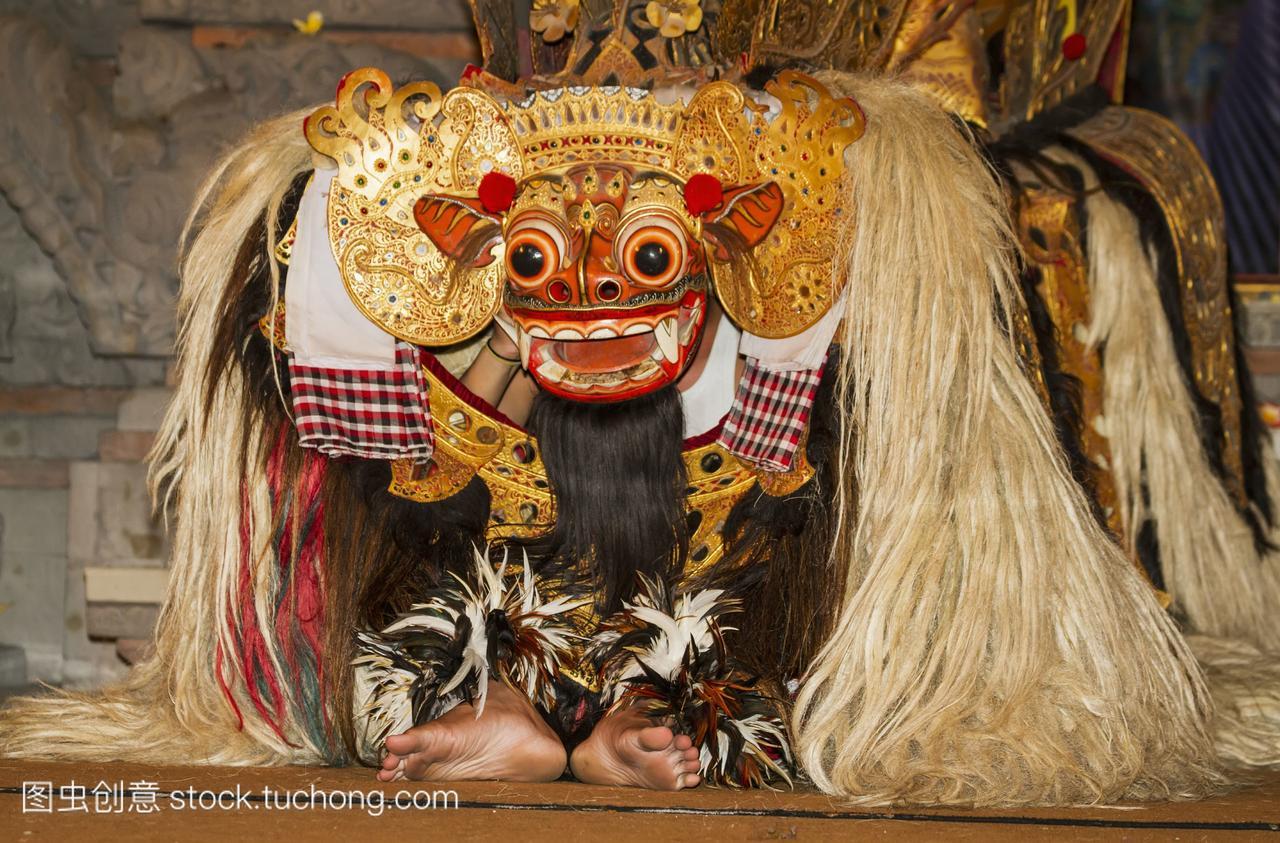 Barong一个量词般的lion-like舞蹈Barong神话的数学生物《说中班》课后反思图片
