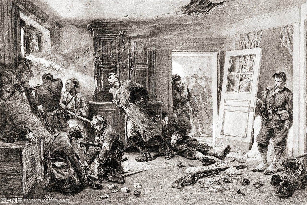 附近的最后子弹。1870-1871年的法国普鲁士战