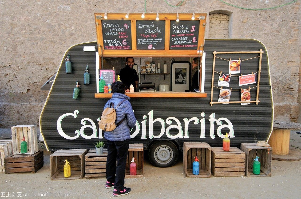 食品卡車,節日。0,實驗商店。巴塞羅那,加泰羅