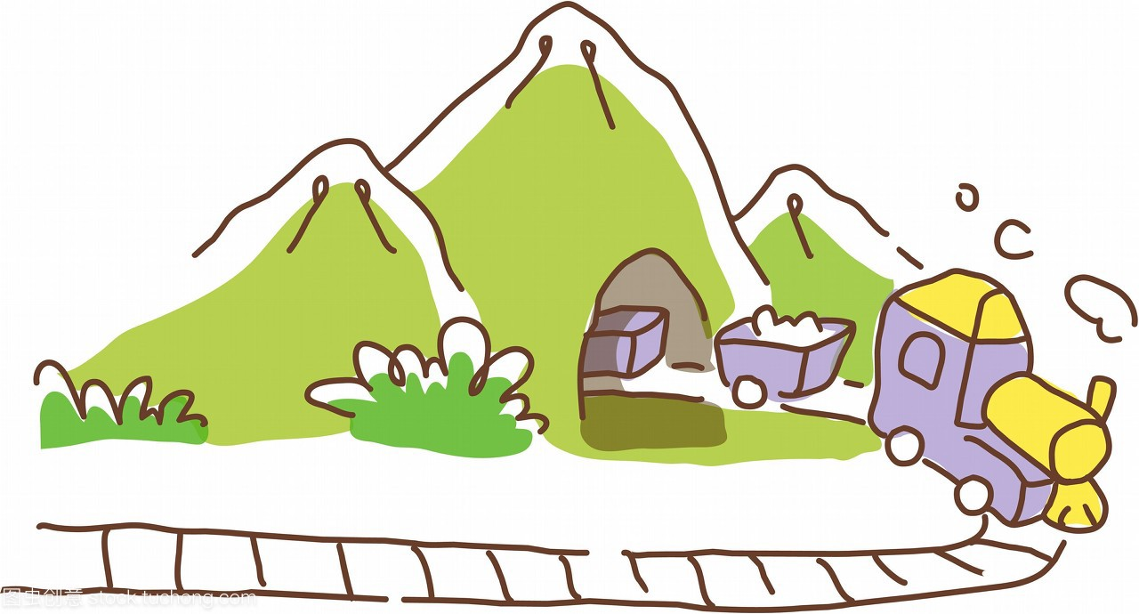 交通,交通工具,列车,向量,吸烟,图标,图示,山,山脉