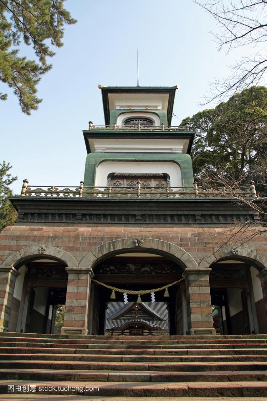 尾山神社在日本石川县金泽市