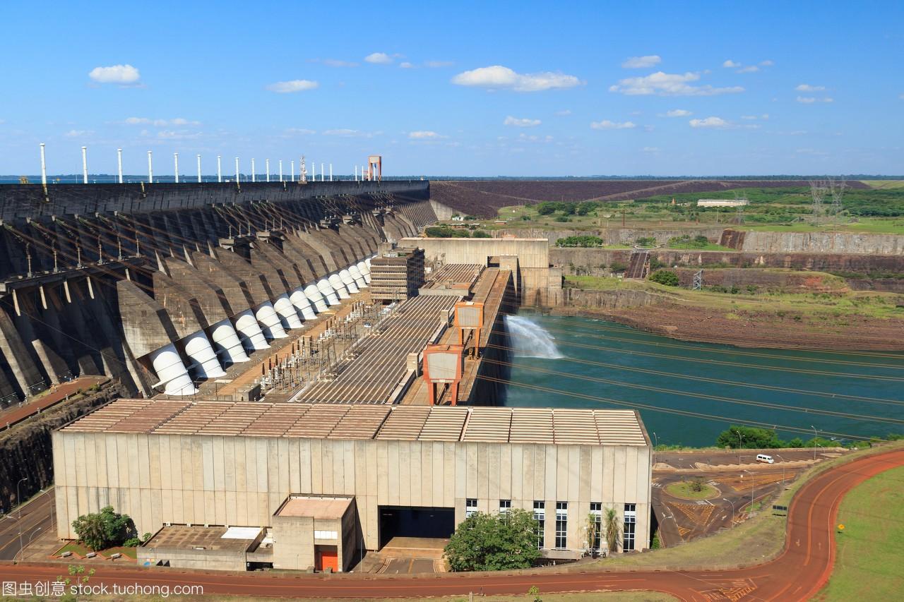 水电站伊泰普大坝,巴西巴拉圭