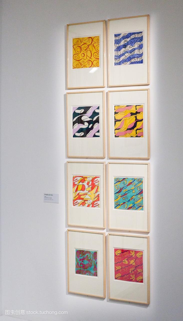 Exibition 的抽象派画家英文波利亚科夫