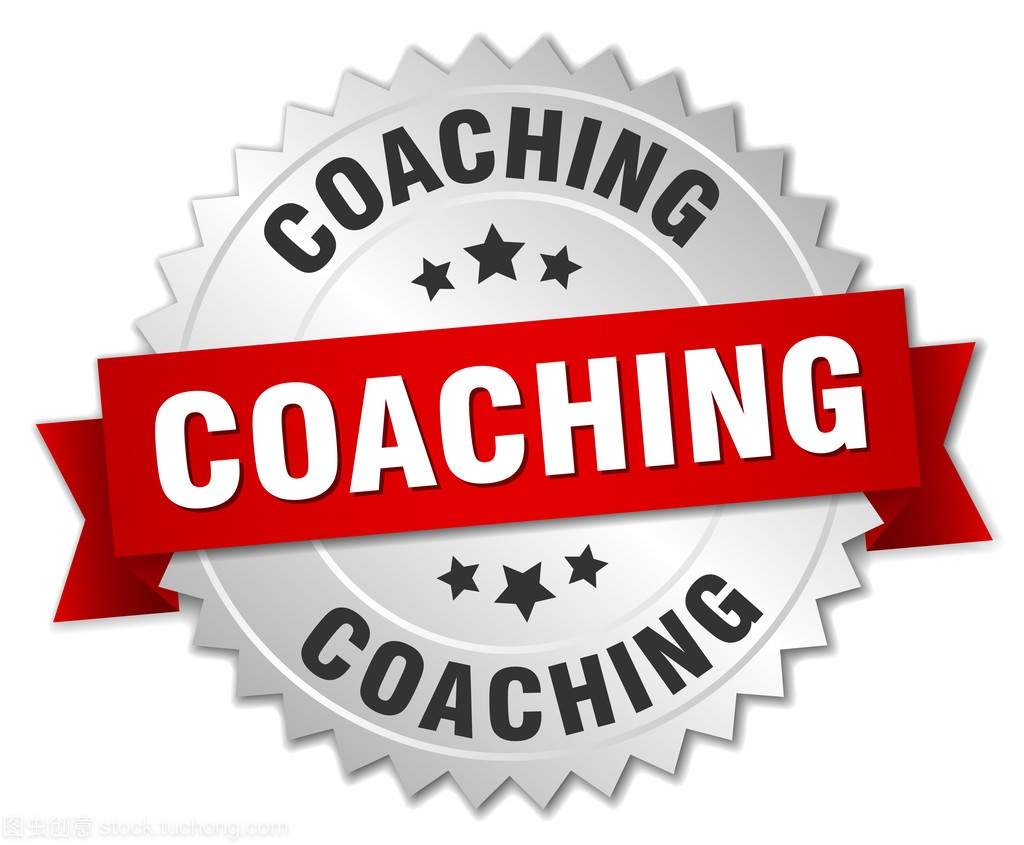 教练 3d 的银色徽章,用红丝带