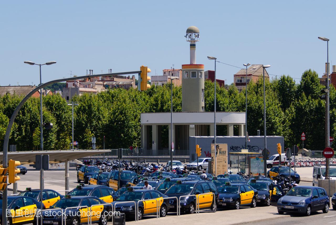 巴塞罗那出租车停止西班牙