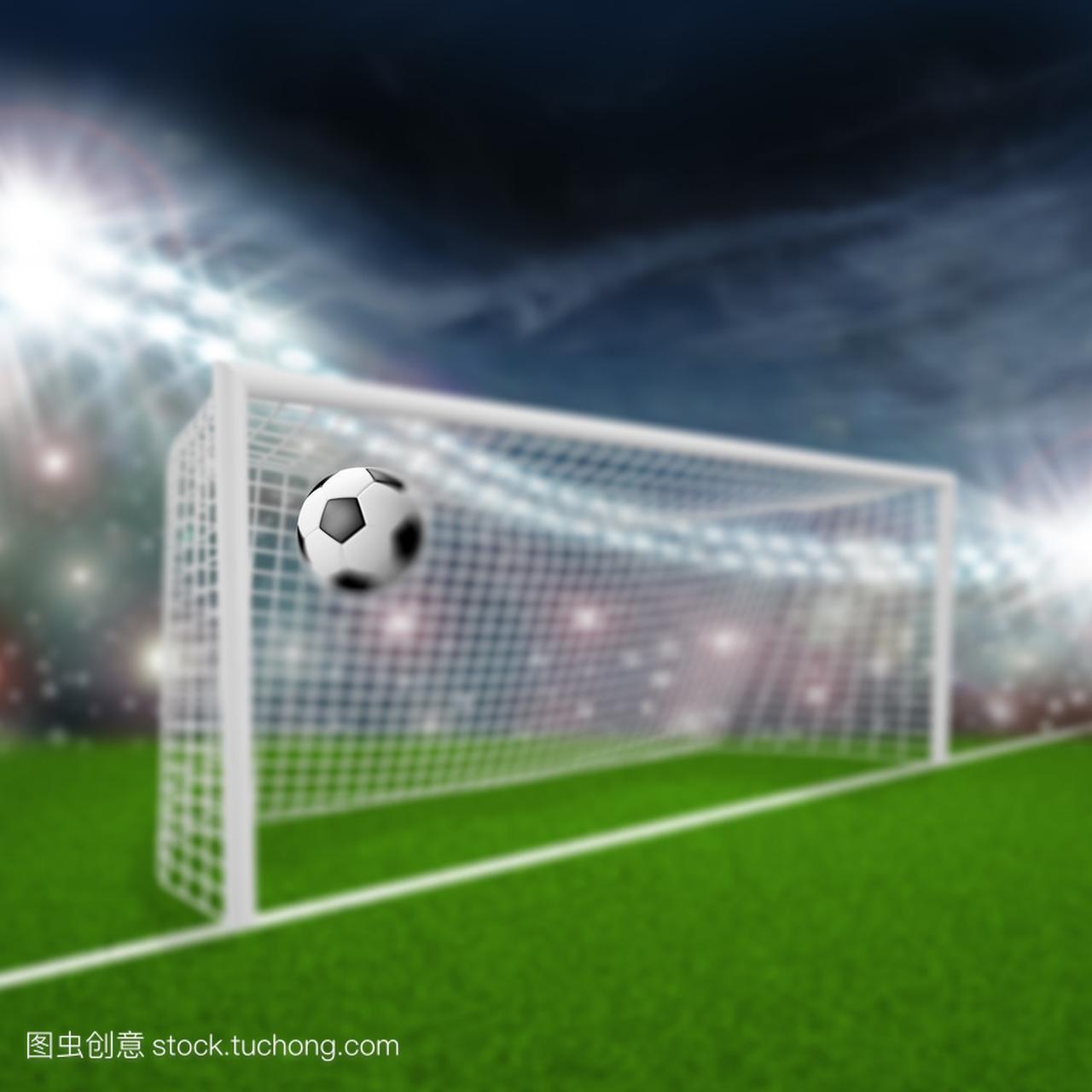 足球球飞进了球门