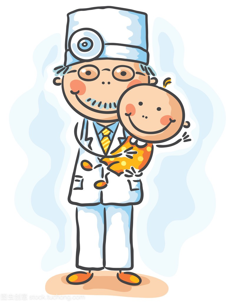 医生抱着一个婴儿