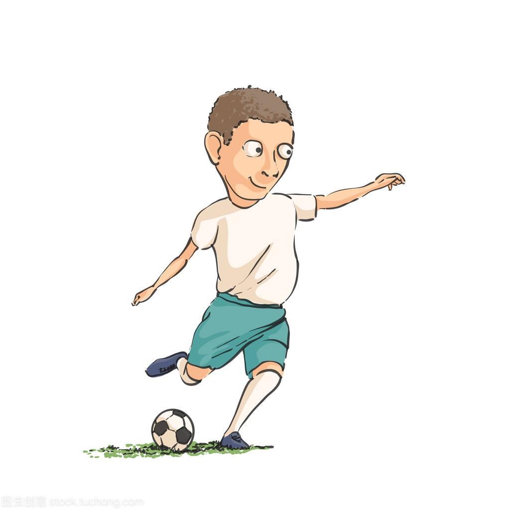 足球运动员带球跑