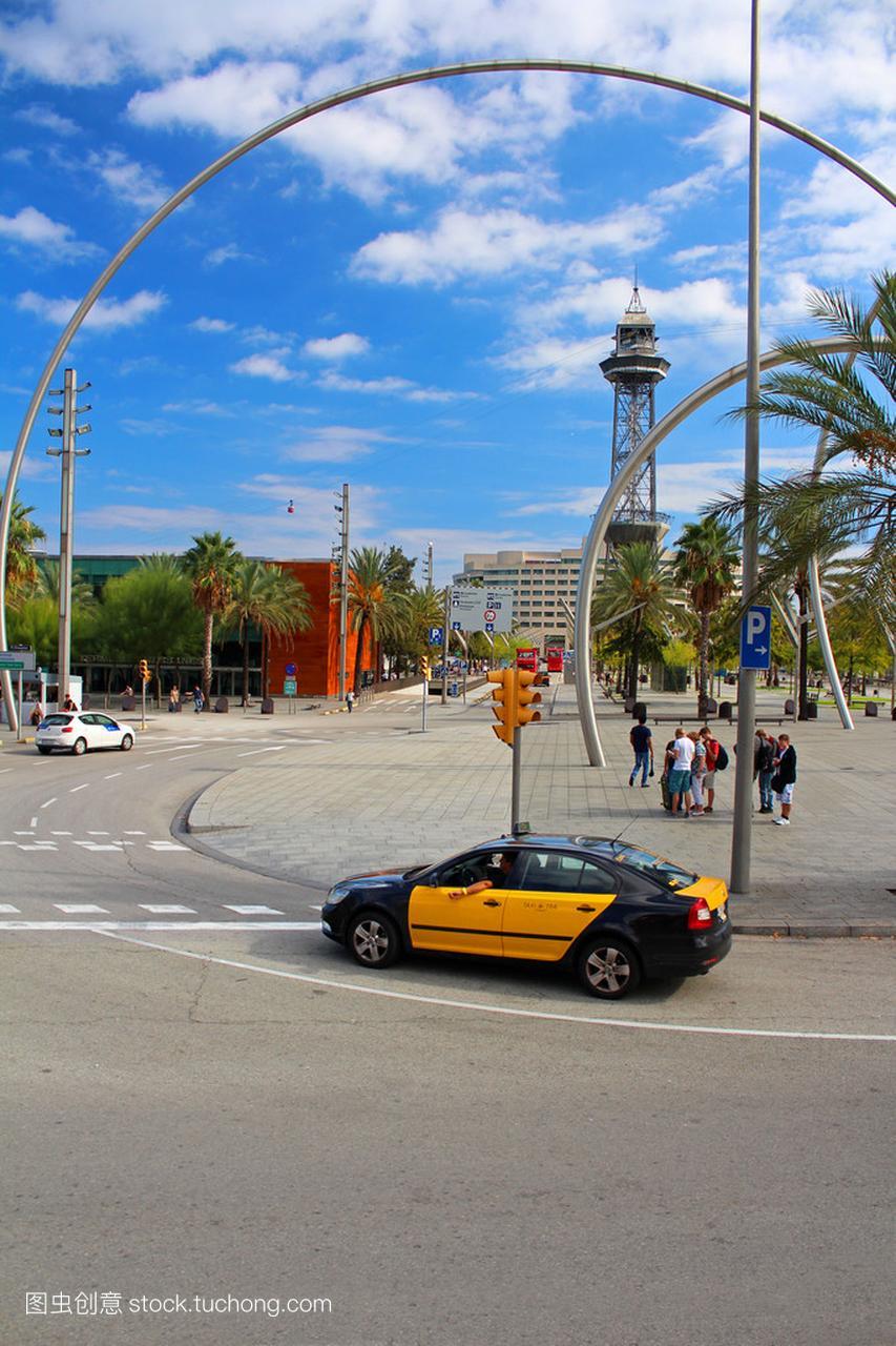 巴塞罗那出租车和索道在巴塞罗那,西班牙