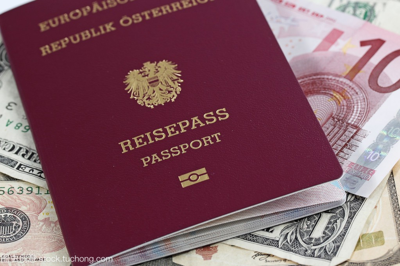 欧洲联盟护照和钱