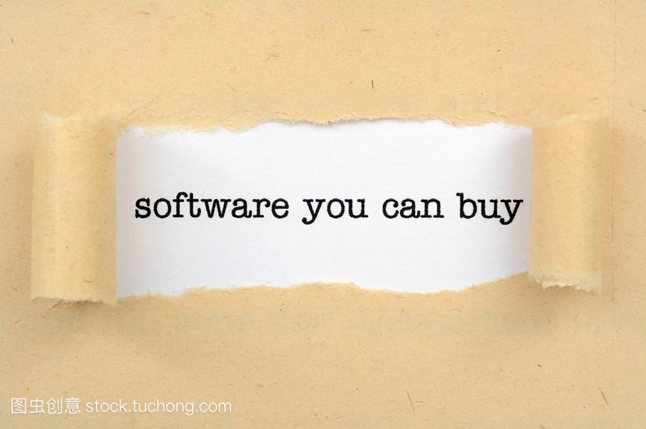 你可以买到的软件