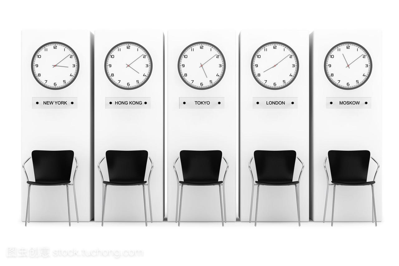 时区时钟显示不同的时间