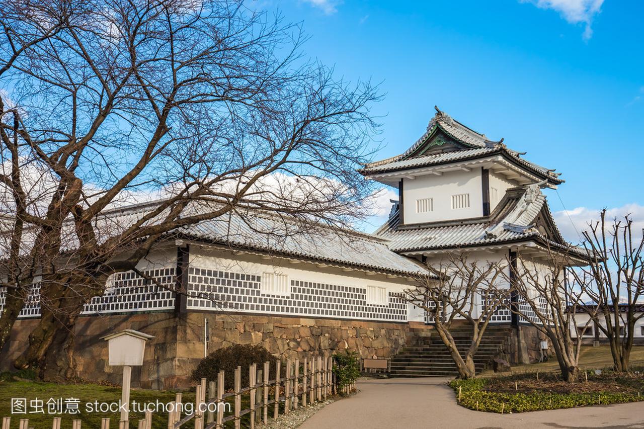 金泽城堡在金泽市日本