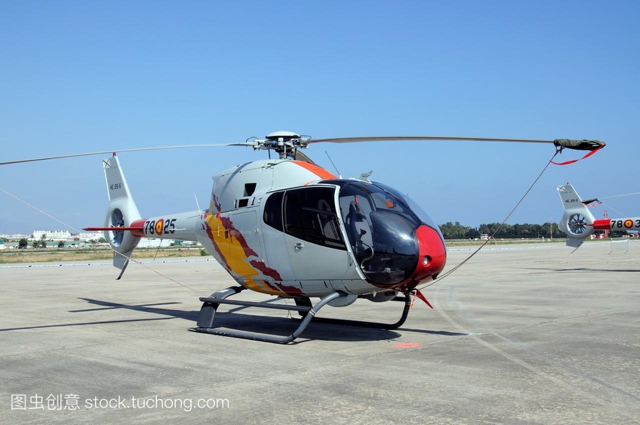 欧洲直升机公司 Ec120 二航展在马拉加机场,西