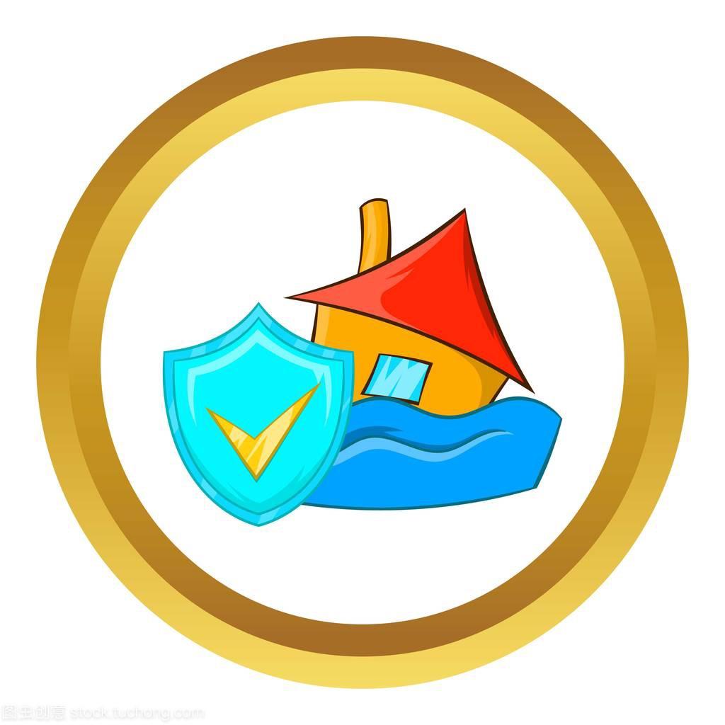 洪水保险矢量图标