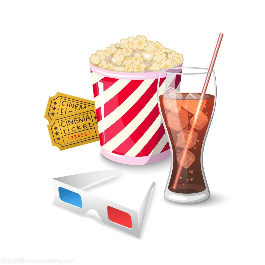 在电影院看电影集合图标符号