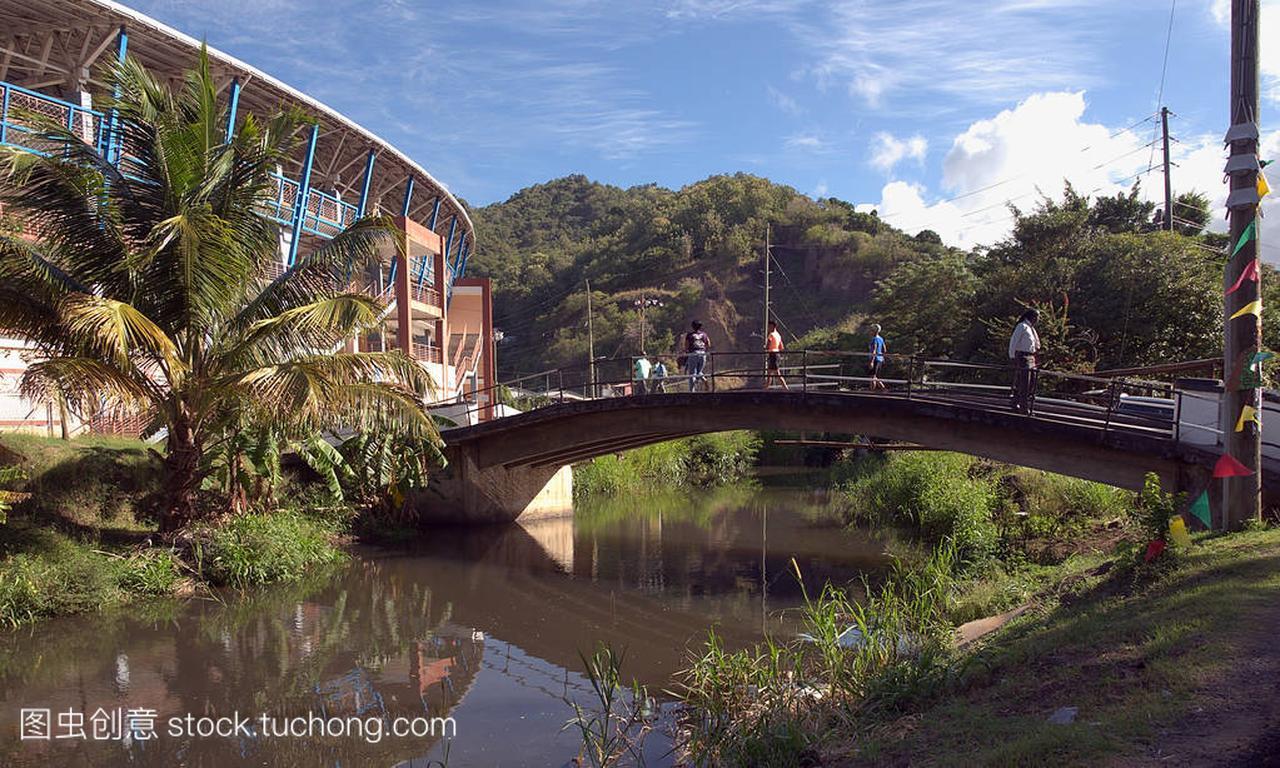 圣乔治-格林纳达热带岛屿-国家板球体育场