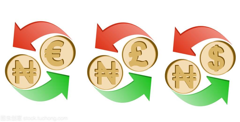 将奈拉兑换成欧元、英镑和美元