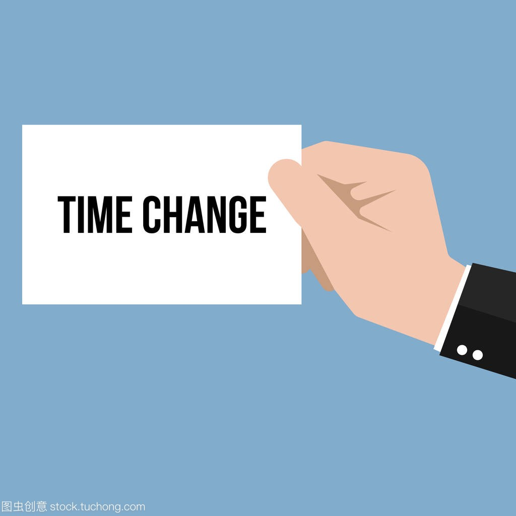 Man showing paper TIME CHANGE text