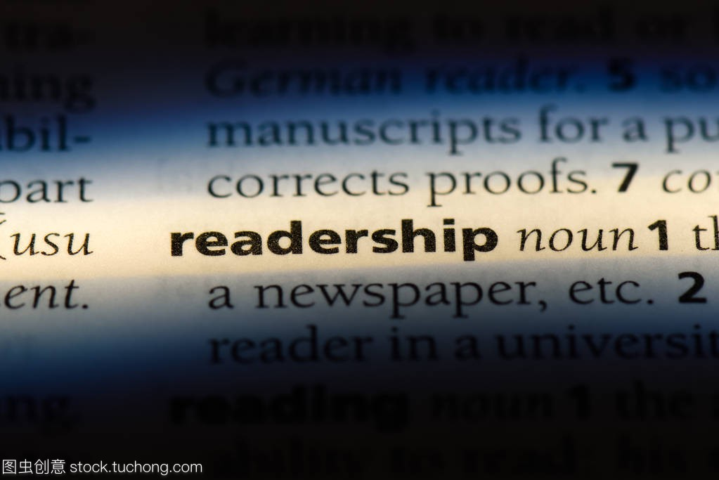 readership word in a dictionary. readership con