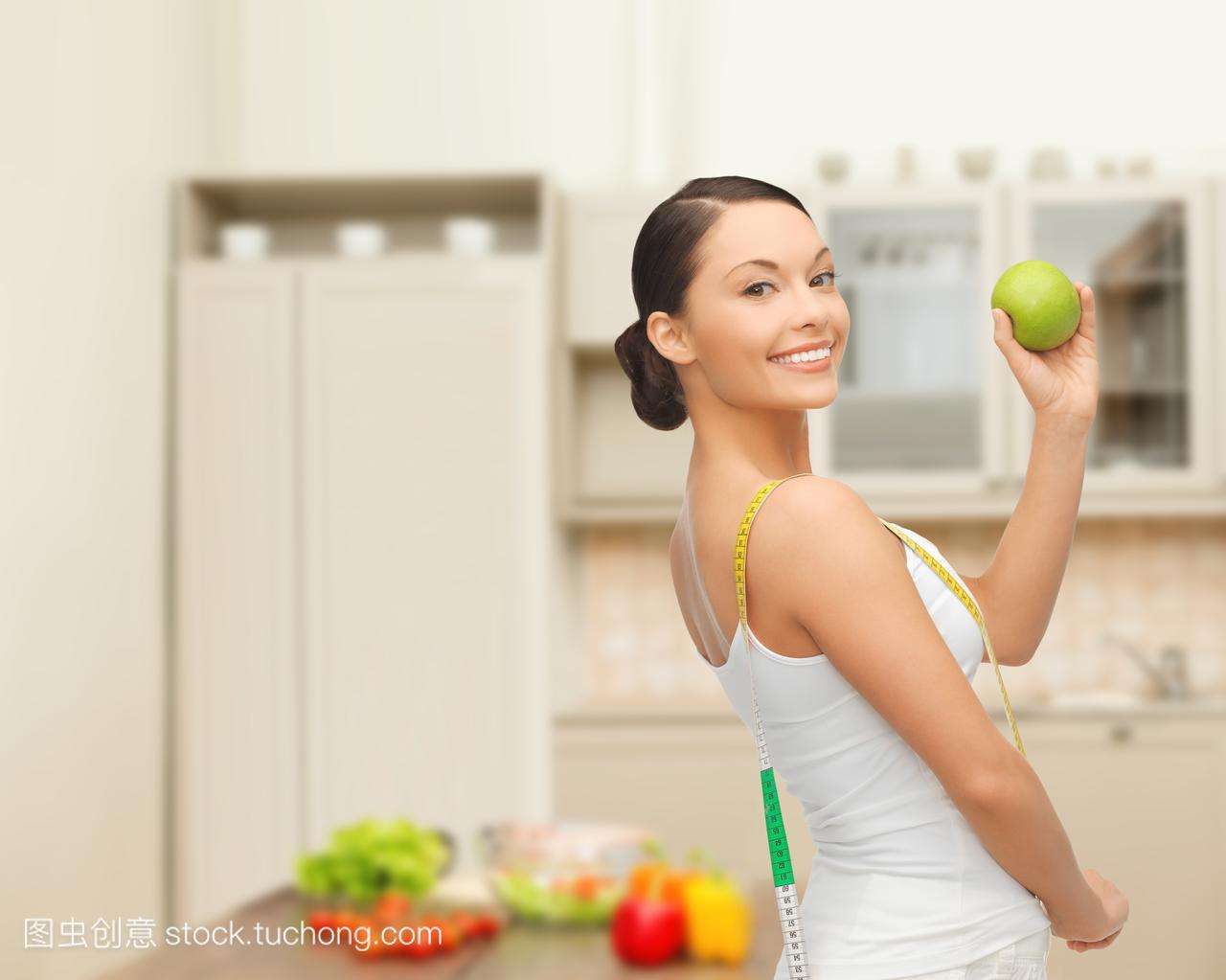 丽,有机,饮食,家,运动员,新鲜,减肥,家庭健身,美,