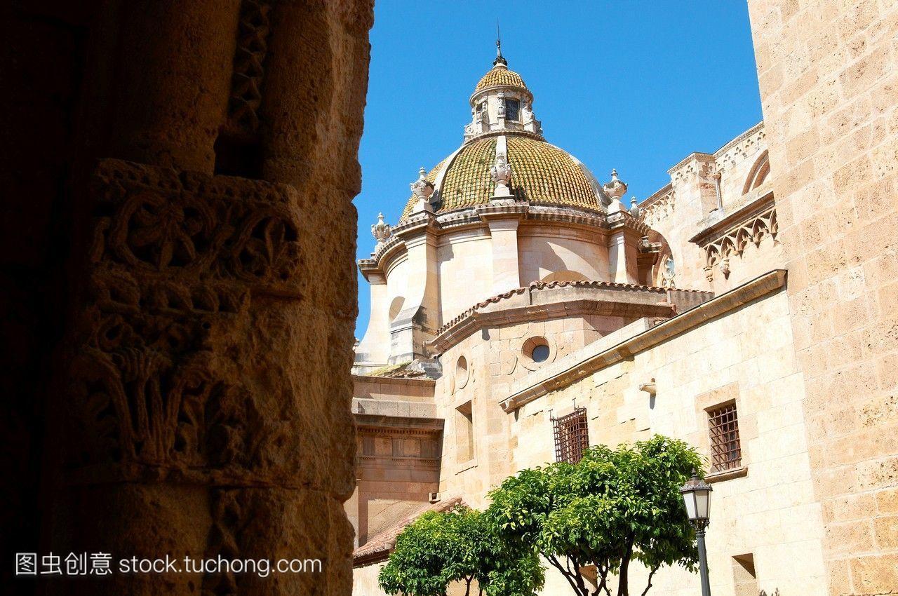 年长,石头,阳光,欧洲人,西班牙,好看,假期,雕刻,欧