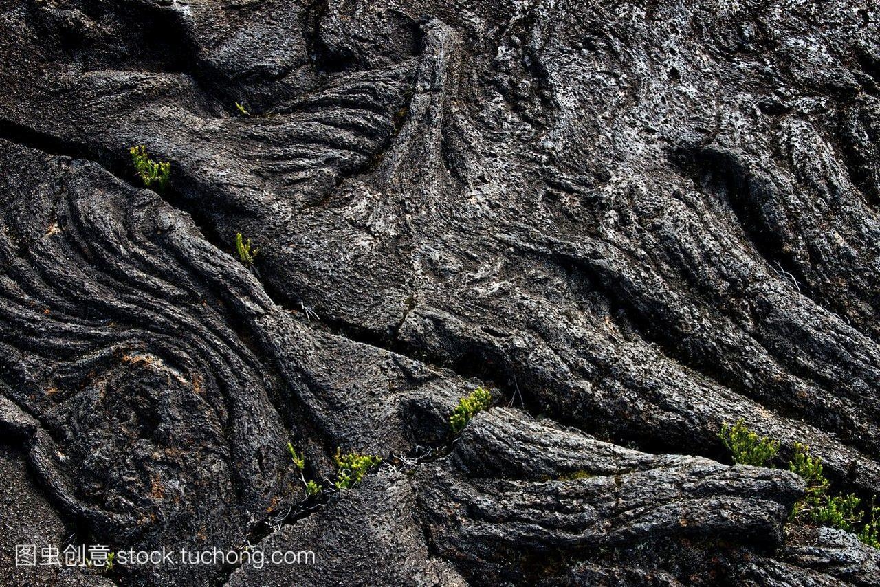 火山熔岩皮拉,与夏威夷的火山一样。允许从06
