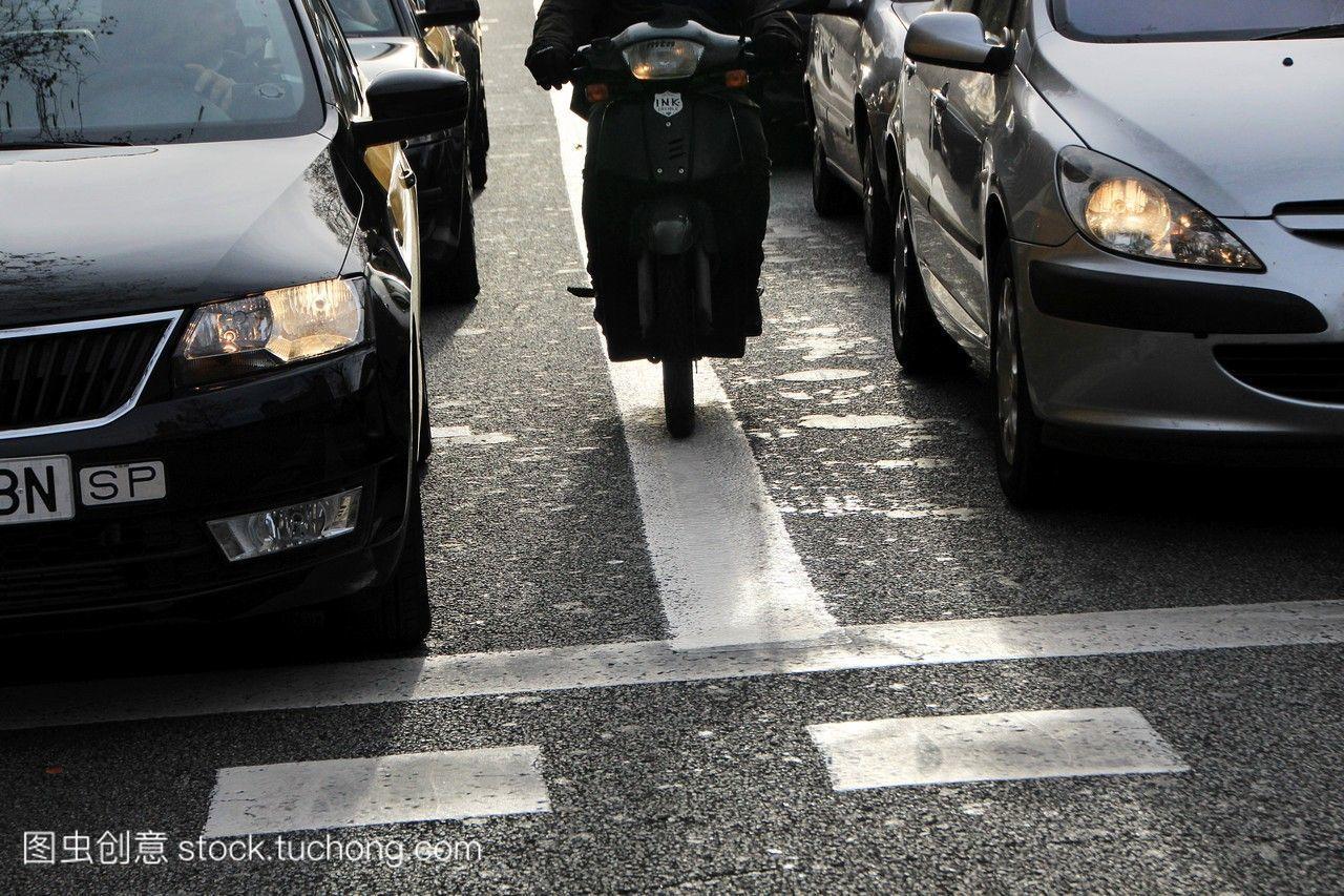 巴塞罗那的出租车。