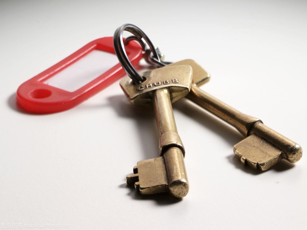 铜制品,铜,二,钥匙,两个,关键,伴侣,of,copper,on