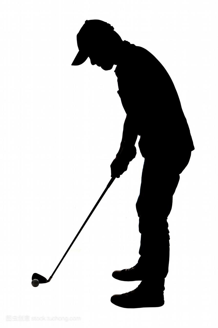 东方人物,亚洲,影像,数码,黑白,球杆,高尔夫球杆