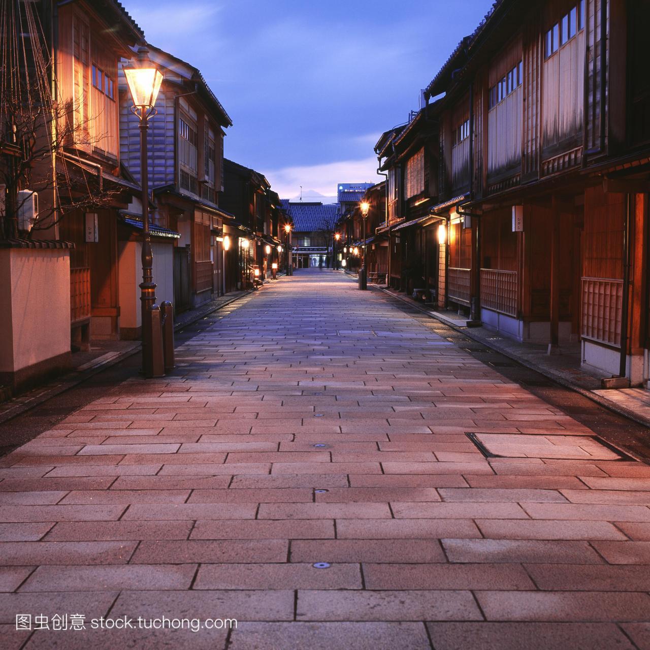 旧日本风格建筑金泽市石川县日本本州岛