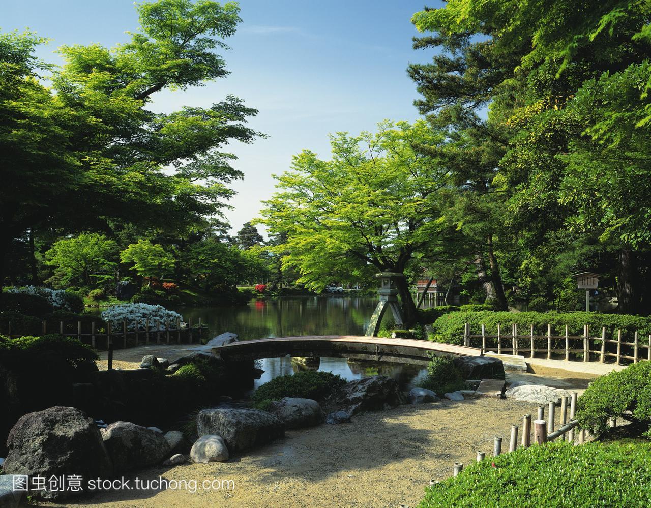 日本石川县kenrokuen花园金泽市