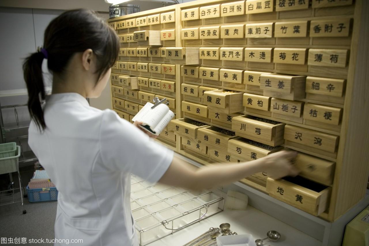 模型发布。邮政寿险局日本传统医学。药剂师准