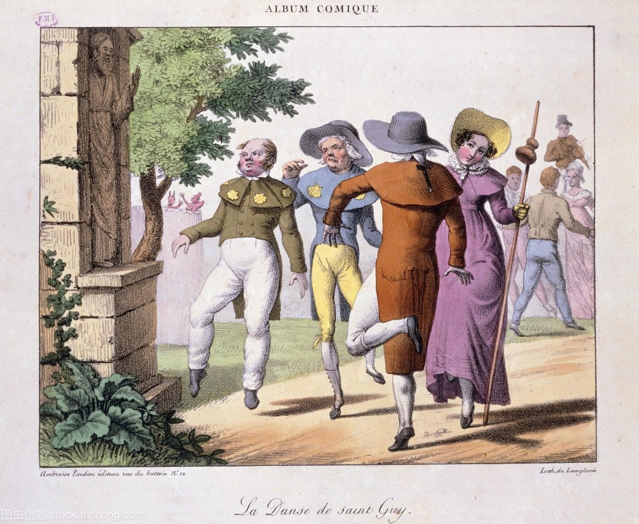 圣·盖伊·圣·盖伊》的插图。《盖伊的舞蹈》