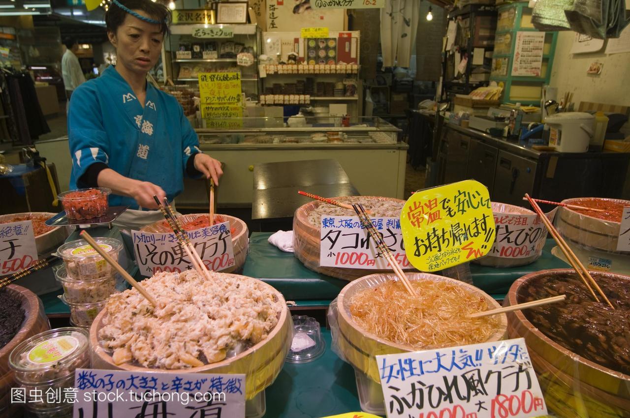 omichi市场金泽石川县,日本,亚洲