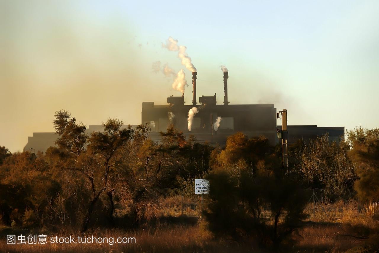污染的面积etangdeberrebouchesdurhine在法国